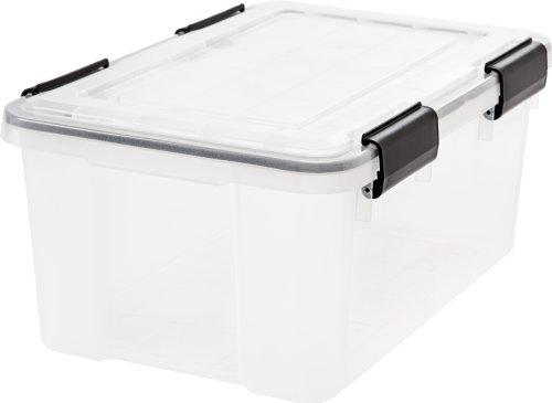 IRIS 19 Quart Weathertight Storage Box Clear