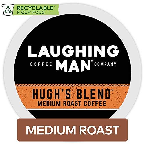 Laughing Man Hughs Blend Keurig Single-Serve K-Cup Pods Medium Roast Coffee 60 Count
