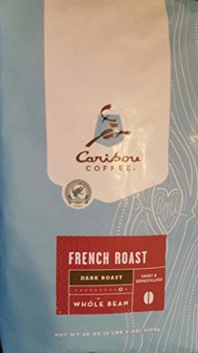 Caribou Whole Bean Coffee 40 oz Bag French Roast Dark