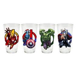 Marvel Avengers Pint Glass Set Of 4