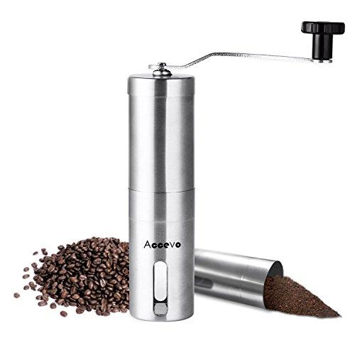 Accevo Manual Hand Coffee Grinder Coffee Press