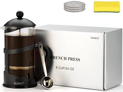 SUNKO French Press Espresso Cappuccino Coffee Maker