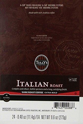 Tullys Coffee Italian Roast K-Cup for Keurig Brewers 24-Count Pack of 2