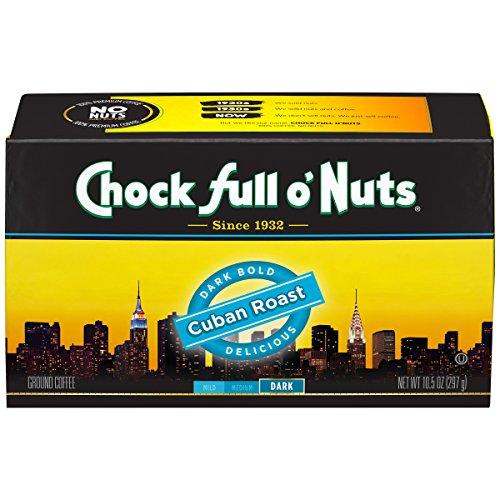 Chock Full O Nuts Coffee Brick Cuban Roast Ground 105 Ounce