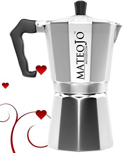 Stovetop Espresso Maker - Italian Moka Pot - Cafetera - Cuban Coffee Machine - 6 Cup by MateoJo