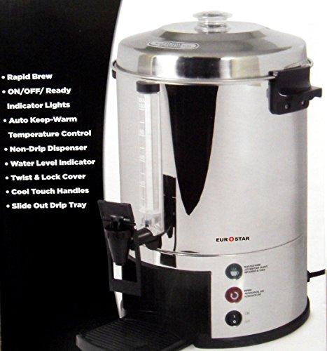 Eurostar ES100 100-Cup Stainless Steel Coffeemaker