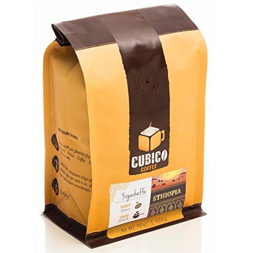 Ethiopia Yirgacheffe Coffee - Ground Coffee - Freshly Roasted Coffee - Cubico Coffee - 16 Ounce Single Origin Ethiopian Coffee