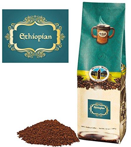 Mystic Monk Coffee Ethiopian Ground Medium Roast 100 Arabica - 12 ounce bag