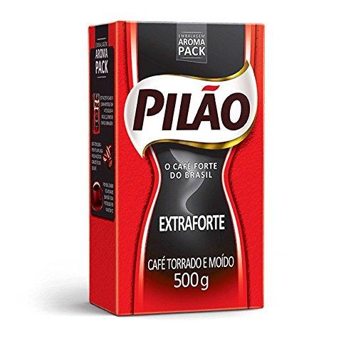Cafe Pilao Extraforte Extra Strong Coffee 500gr 8 Pack