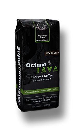 OctaneJAVA Whole Bean Coffee Energy  Coffee Very Strong Coffee - 12 Ounce Bag