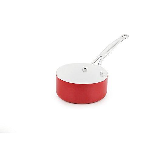 Fuller Brush Ceramic 25-Quart Saucepan With Glass Lid
