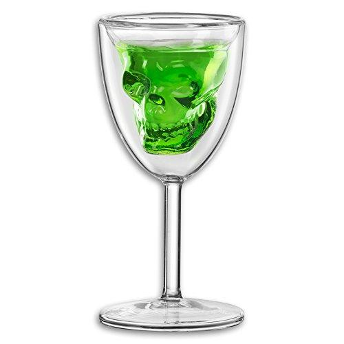 Absinthe Chalice Skull Glass
