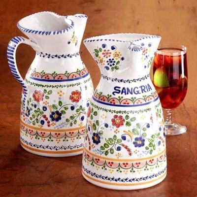 Colorful Flor Ceramic Sangria Pitcher 12 gallon capacity