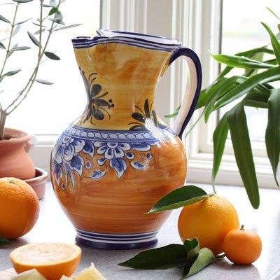 Rustic Orange Yellow Sangria Pitcher