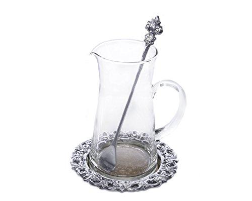 Arthur Court Fleur-de-lis Beverage Pitcher Set