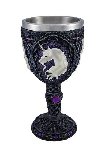 Medieval Renaissance Wine Goblet Gemstone Chalice Cup (unicorn - Purple)