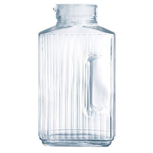 Luminarc Quadro 2-Liter Glass Pitcher with Lid