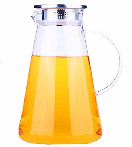 Moyishi 50 oz Glass Water Pitcher Glass Water Kettle Iced Tea Pitcher Juice Teapot