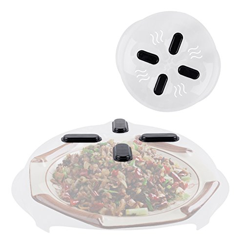 Delidge 1pcs Microwave Hover Anti-Sputtering Cover New Food Splatter Guard Microwave Splatter Lid with Steam Vents