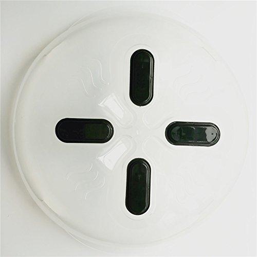 Seluna Magnetic Microwave Splatter Lid with Steam Vents New Food Hover Anti-Sputtering Cover Splash Guard Protector  Dishwasher-Safe BPA-Free  115 - Inch