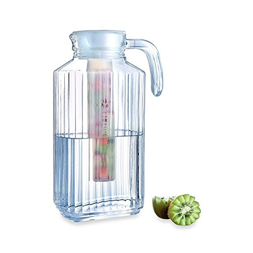 Luminarc Quadro 575 Ounce Glass Pitcher with Handle and Infuser