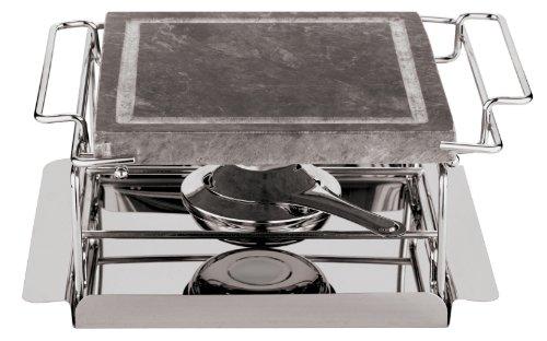 Paderno World Cuisine 9-Inch Stone Grill Set