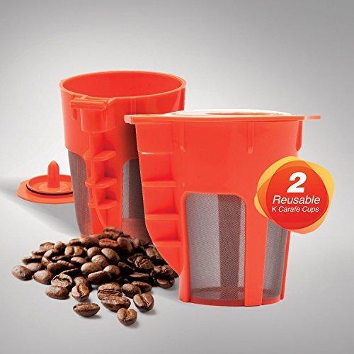 EZ BREW 2 Pack Reusable Carafe K-Cups Reusable coffee filter for the Keurig 20 K200 K300 K400 K500