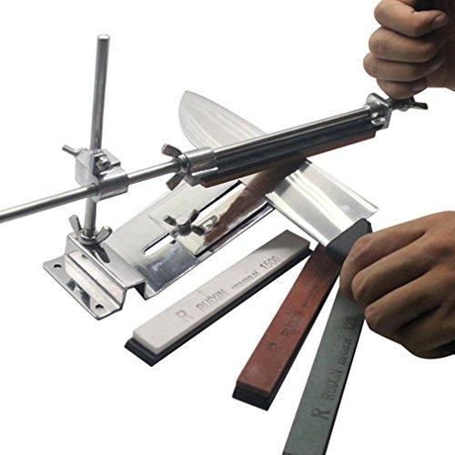 Belovedkai Professional Knife Sharpener Sharpening System Fix-angle Sharpening System Combination Kit With 4 Stones