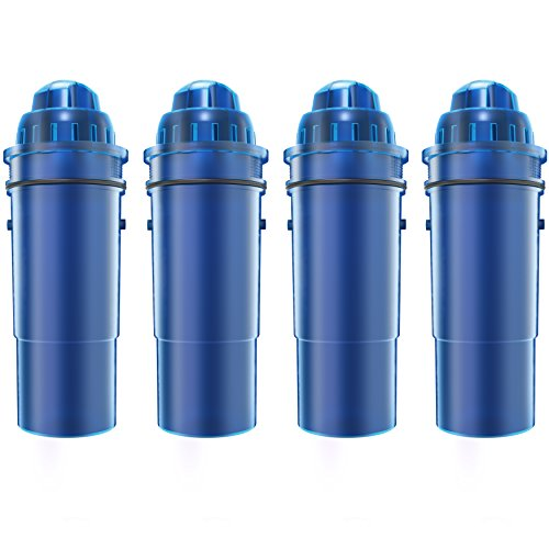 4 Pack AQUACREST CRF-950Z Replacement for Pur CRF-950Z Pitcher Water Filter