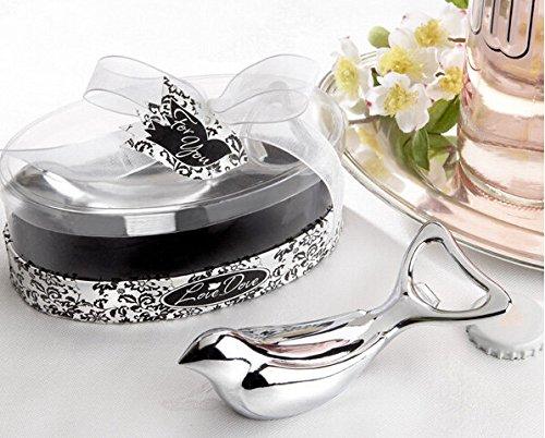 Lovebirds Bottle Opener Baby Shower Gifts Wedding Favors Gift Packaging