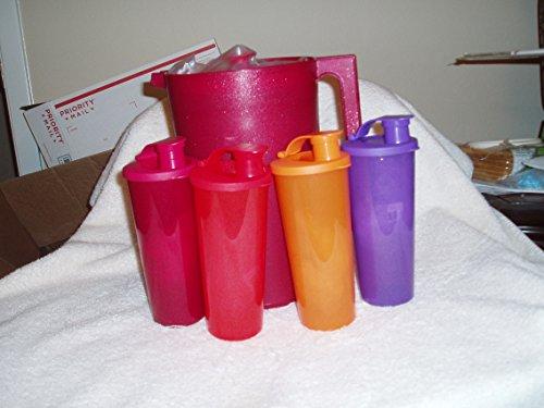 Tupperware Gallon Pitcher W4-16 oz Tumbler Set