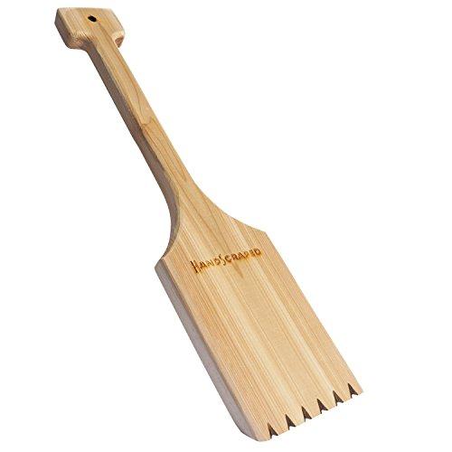 Handmade in North America - 1 Cedar Wood BBQ Grill Scraper - longer length making it easier to use