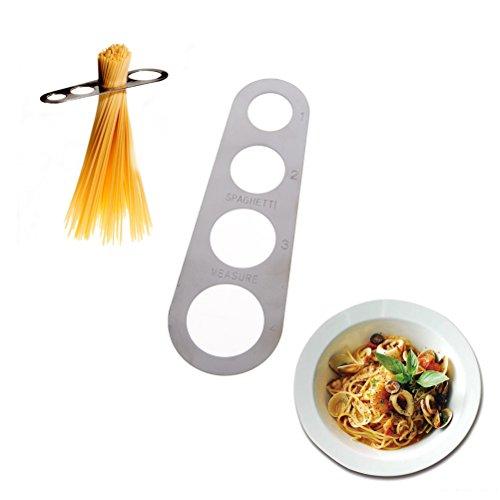 BraveWind 1 Pcs Stainless Steel Spaghetti Measurer 4-Holes Macaroni Measuring Tool Kitchen Gadget