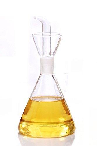 ELETON Olive Oil Dispenser Oil Bottle Glass with No Drip Bottle Spout - Oil Pourer Dispensing Bottles for Kitchen - Olive Oil Glass Dispenser to Control Cooking Vegetable Oil and Vinegar8 oz