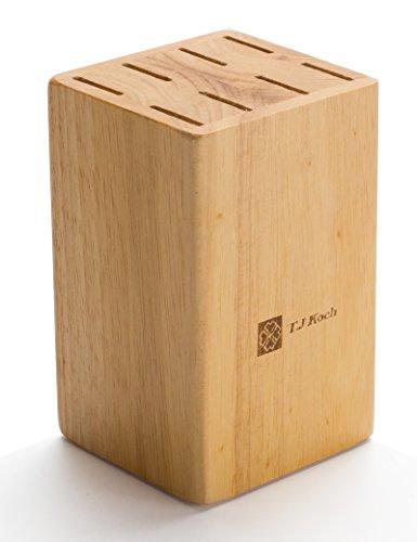 Knife Block Fit For 8 Piece Steak Knives 5 Inch Knives BBQ Gadget Organizer Durable ♻ 100 Natural Wood Holder Storage In Drawer Cabinet Kitchen Centerpiece