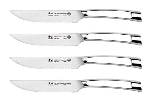 Cangshan N1 Series 1020342 German Steel Forged 4-Piece Steak Knife Set 5-Inch Blade