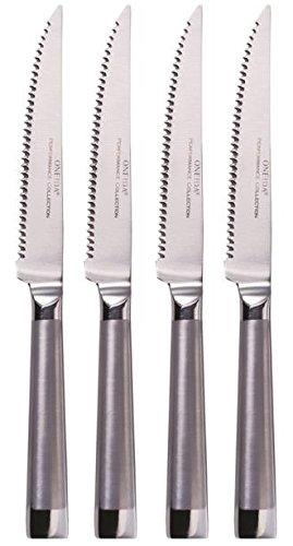 Oneida 4 Piece Oval Handle Stainless Steel Steak Knife Set
