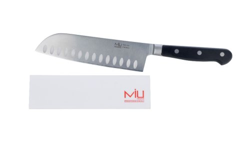 MIU France Forged Stainless Steel Santoku Knife 7-Inch