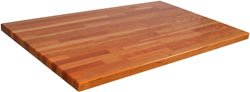 John Boos Blended Oak 32 Wide Island Top 1-12 Thick 48 x 32 Varnique Finish