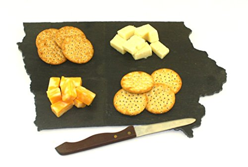 Custom Iowa Slate Cutting Board Serving Tray or Cheese Board- Personalized with Laser Engraving