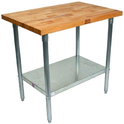 John Boos Maple Butcher Block KItchen Work Table - 84 inch x 24 inchx 36 inch