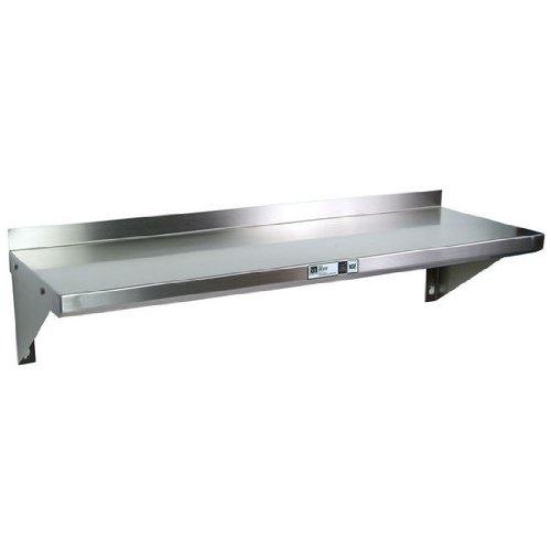 John Boos Stainless Steel Commercial Grade Wall Shelf 48 W x 16 D X 13-12 H 14-Gauge