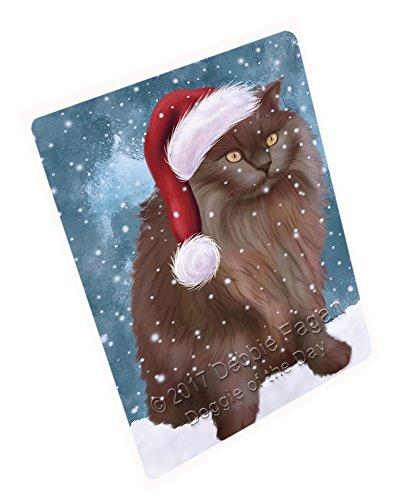 Let It Snow Christmas Happy Holidays Tiffany Cat Cutting Board CUTB207 Small
