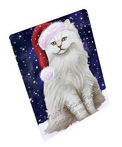Let It Snow Christmas Happy Holidays Tiffany Cat Cutting Board CUTB210 Small