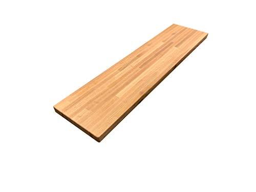 Red Oak Butcher Block Wood Bar Top - 15 x 18 x 72