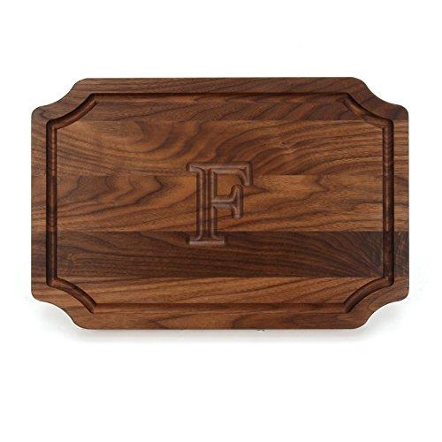 BigWood Boards W310-F Cutting Board Personalized Cutting Board Large Cheese Board Walnut Wood Cutting Board and Serving Tray F