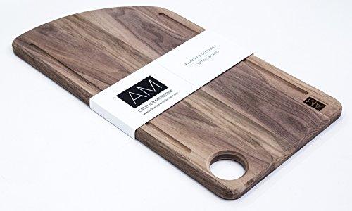 The Noyer by L'atelier Moderne Walnut Wood Cutting Board 11x20