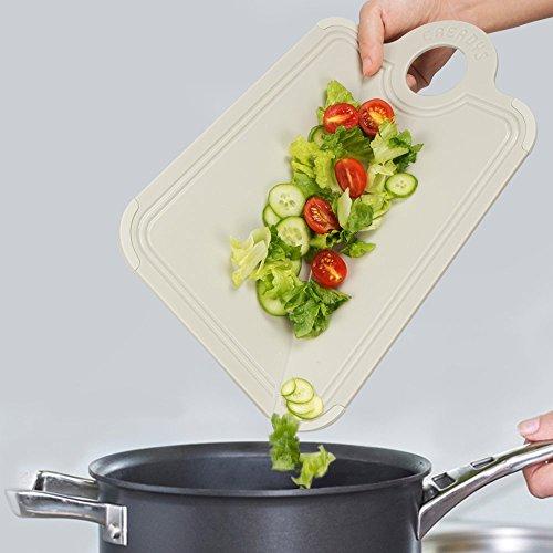 Foldable Cutting Board Anti-skid Antibacterial Silica Gel Cutting Boards Folding Cutting Board Warm gray