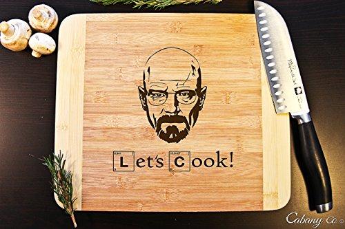 Cutting Board Engraved Bamboo Chopping Block HDS - Breaking Bad Heisenberg Face