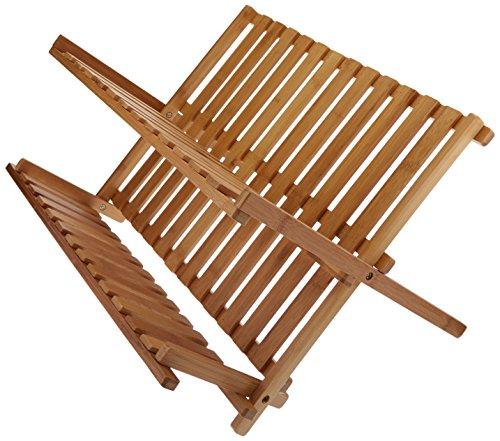 Creative Home 73444 Bamboo Folding Dish Rack 17-12 by 11-58-Inch